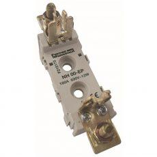 Késes aljzat NH00 1P sorolható M8 csavaros