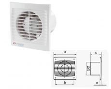 Vents axiális ventillátor 100 STL