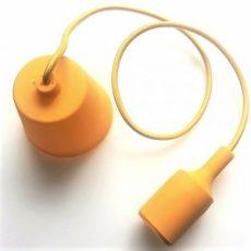 Szilikon függőlámpa E27 sárga