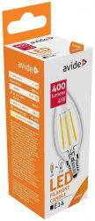 Avide LED Filament Candle 4W E14 360° NW 4000K