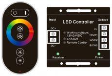 Avide LED Szalag 12V 216W RGB 6 Gombos RF Érintőpaneles Távirányító és Vezérlő