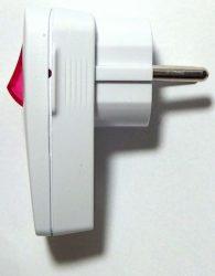 Földelt dugvilla villanykapcsolóval