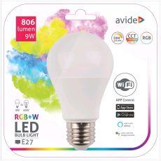 Avide Smart LED Globe A60 9W RGB+W WIFI APP Control