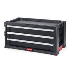 Keter Pro series 3 fiókos szerszámosláda szürke/fekete 237791