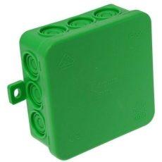 Falon kívüli kötődoboz 85x85x40 IP54 zöld