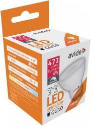 Avide LED Spot Plastic Fényerő Szabályzós 6W GU10 110° NW 4000K