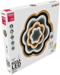 Avide Design Mennyezeti Lámpa Rosa 98W(49+49) RF Távirányítóval