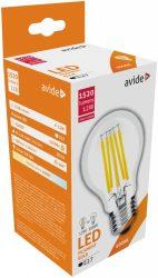 Avide LED Filament Globe 12W E27 A65 360° NW 4000K High Lumen