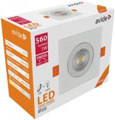 Avide LED Beépíthető Spot 38° Négyzetes 7W NW 4000K