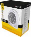 Entac Hordozható Ventilátoros Fűtőtest 2000W