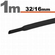 Zsugorcső 32/16mm fekete