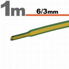 Zsugorcső 6x3mm zöld sárga