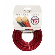 Hangszórókábel piros-fekete transzpaerent 2x0,5mm, 15m