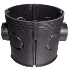 D-6071 65 mm szerelvénydoboz mélyített fekete